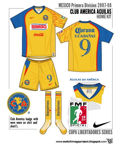 Club America 2007-08 Home